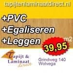 PVC aanbieding leggen inclusief gratis egaliseren NU €v 39,95