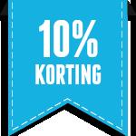 10% korting op rijlespakket